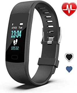 JCZWL Fitness Tracker HR, Activity Tracker Watch with Step Counter, Heart Rate Monitor with Waterproof Smart Fitness Band, Step Calorie Counter, Pedometer Watch for Kids Women and Men