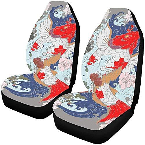 Fall Ing Autostoelhoezen, autostoelhoezen, stoelhoezen, voorstoelen, papierstijl, op maat gesneden, mooie kleur autostoelbeschermers voor de meeste auto's