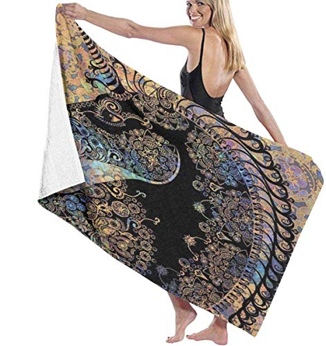 XCNGG Obra de Arte botánica de Naturaleza exótica con Hojas y Acuarelas de flamencos Obra de Arte de Secado rápido, súper Absorbente, Ligero, Fino, novedoso, Toallas de Playa de 32 x 52 Pulgadas