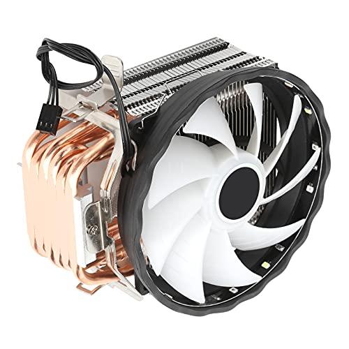 Enfriador de CPU, Proceso de clarificación por tubería de Calor Fácil de Instalar y Usar El disipador de Calor de Doble Ventilador para la computadora Tiene una Mejor disipación de Calor y