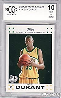 2007/08 Topps #2 Kevin Durant ROOKIE BECKETT 10 MINT Graded BECKETT 10 MINT ! High Grade Rookie Card of Golden State Warriors MVP Superstars! Shipped in Ultra Pro Graded Card Sleeve to Protect it !