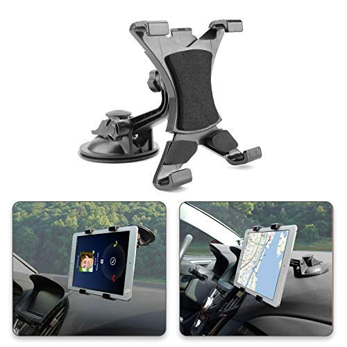 Supporto Ipad Auto, POMILE Tablet Car Holder, Tablet Supporto auto Regolabile a 360 Gradi con Forte Ventosa per 7 '~ 10.5' Tablet, Apple iPad Air, Samsung