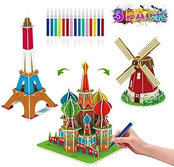 Beaure 67-Pieces 3D Coloring Puzzle