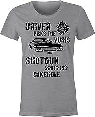 6TN Camiseta para Mujer Ajuste Winchester Conducción