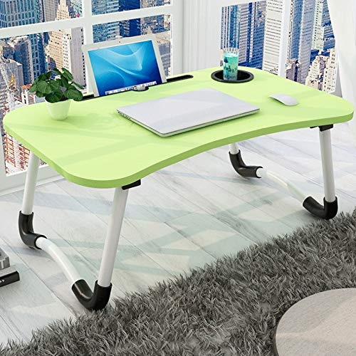 Ystle Folding Notebook Computer Desk Dorm Room Foldable Table Notebook Computer Stand with Non-Slip Rubber, Multifunction Dining Table Outdoor Picnic Table, The Best Home Desk, Child Study Desk Write