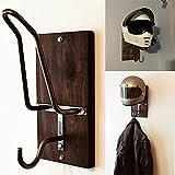 Motorcycle Helmet Rack & Jacket Hook,Motorcycle Helmet and Jacket Holder Organizer Hanger for Coats, Hats, Caps & Helmet Mount