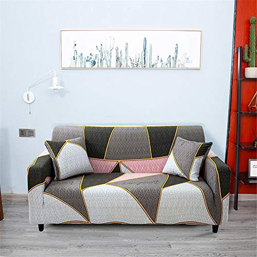 XIAOYAN Funda Antipolvo Funda de sofá elástica Universal Antideslizante Tela Universal Funda de sofá Todo Incluido-Gris Polvo_Asiento Individual 90—140cm