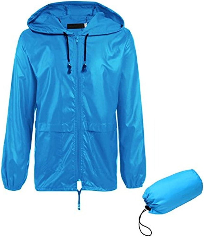 bluee Coat Raincoat Hooded Sunscreen Waterproof Raincoat Outdoor Environmental Predection Wear Raincoat (Size   XXXXL)