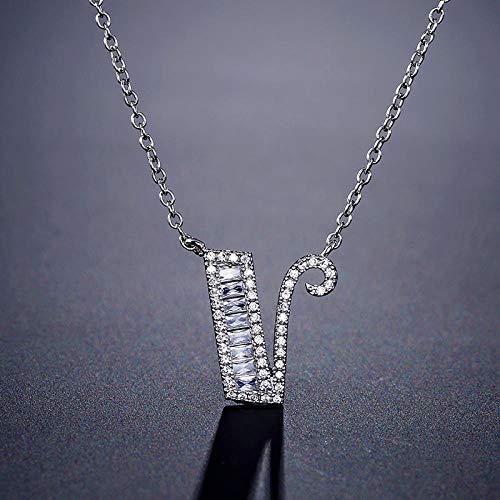 MCAdianpu trendy letter 42 cm + 5 cm 925 sterling zilver halsketting voor dames party geschenk sieraden