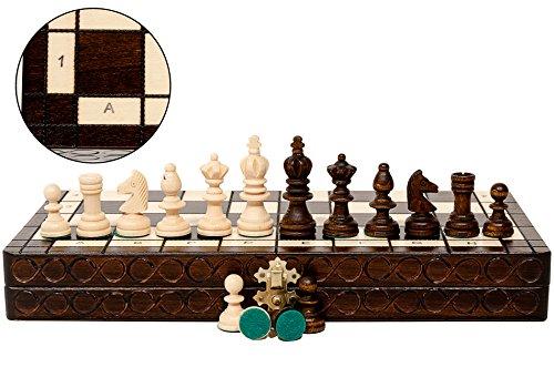 Master of Chess OLYMPIC 35 x 35 cm Juego de ajedrez de madera Piezas de torneo y tablero de ajedrez para niños para adultos