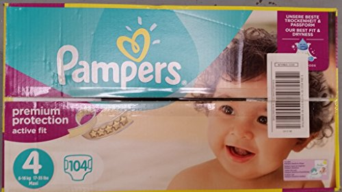 Pampers Active Fit Größe 4 Maxi 7-18kg Giga Pack (1 x 104 Windeln)
