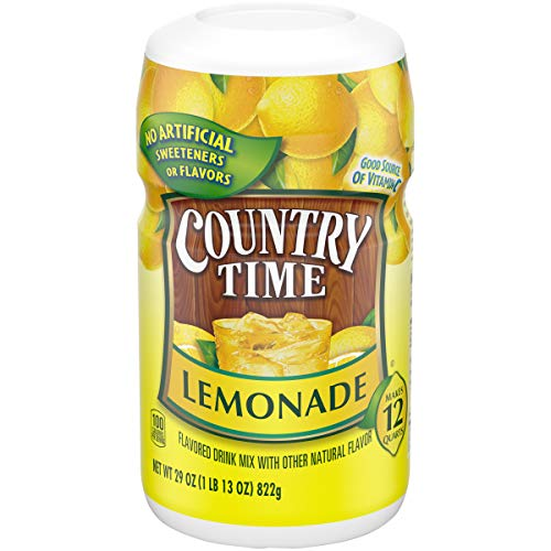 Country Time Lemonade Powdered Drink MIx (29oz Canister, Pack of 4)