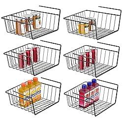 black wire under the shelf organizing basket