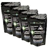 Absorfix Bindemittel für alle Flüssigkeiten, Universalbinder für Erbrochenes, Urin, Blut, Öl und vieles mehr, Geruchs-Entferner (4 x 25g)