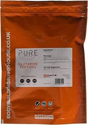 Bodybuilding Warehouse Pure Glutamine Peptides Powder Unflavoured 500 g