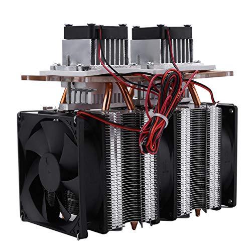 Enfriador de semiconductores de doble núcleo Equipo de refrigeración y deshumidificación Peltier eléctrico de 144 W para refrigeradores pequeños