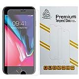 Protector de pantalla para iPhone 6S Plus y iPhone 6 Plus de borde a borde completo Gorilla de cristal templado de alta calidad invisible con bordes de TPU, color blanco
