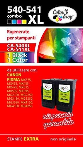 Color'S Drop Cartucce rigenerate Alta capacità 540XL-541XL Combo Pack Compatibile con Stampante Canon