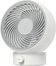 XLTFS12 Ventilador de Escritorio Ajuste de la Velocidad de Stepless Ventilador silencioso USB Electric Cyclone Ventilador Dormitorio de la Oficina Portátil Ventilador pequeño (Color : White)