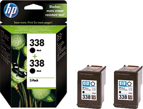 HP Cartucho de tinta/CB331EE negro 2x 338Inh.2