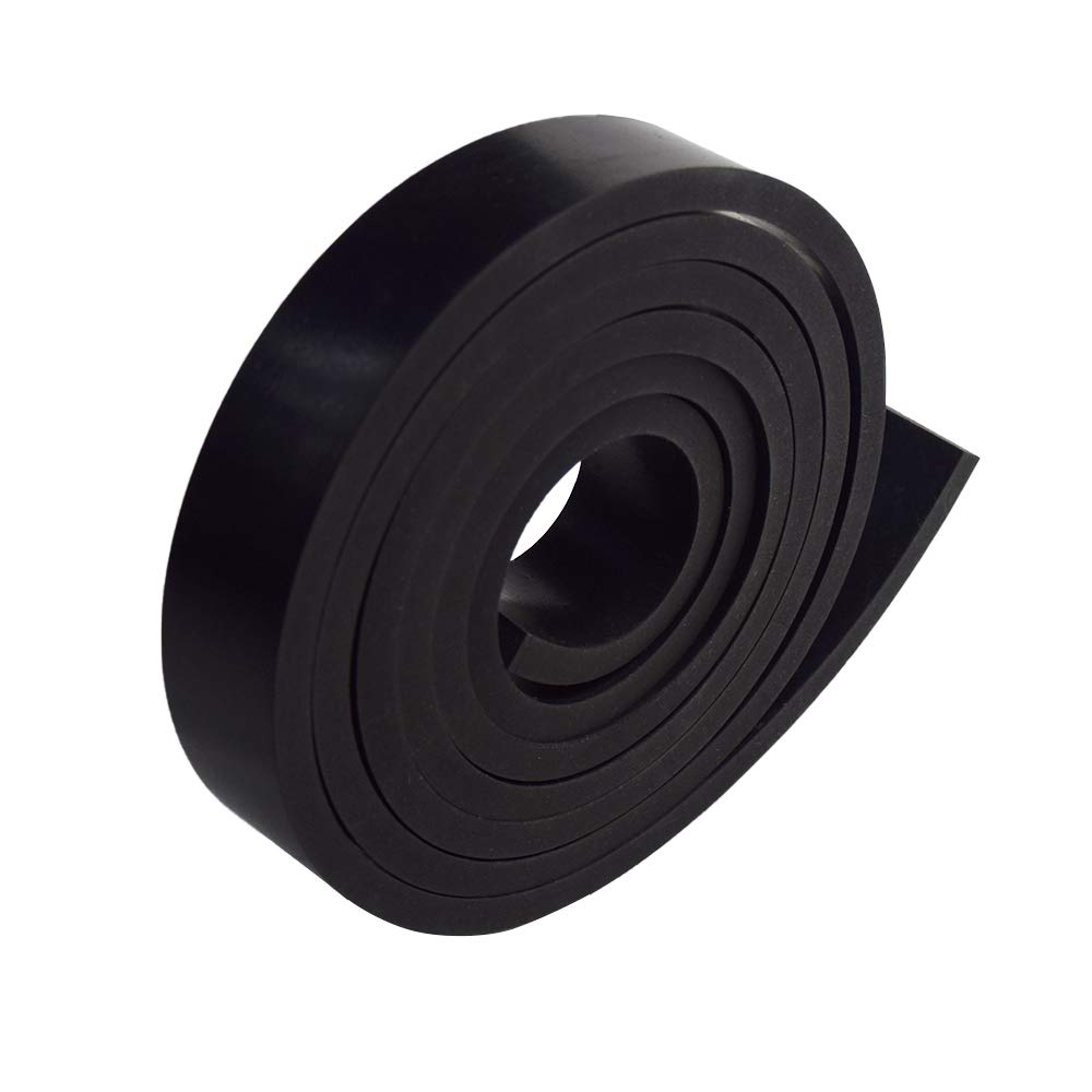 Flooring Bumpers Abrasion Neoprene Rubber Strips 1//4 Solid Rubber Rolls Use for Gaskets DIY Material Black Protection Sealing Supports .250 Leveling Thick X 1 Wide X 5 Long