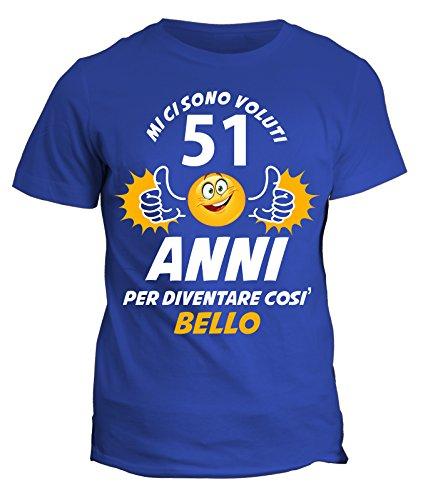 fashwork Tshirt Compleanno Ci Sono Voluti 51 Anni per Diventare Bello - Idea Regalo - in Cotone by
