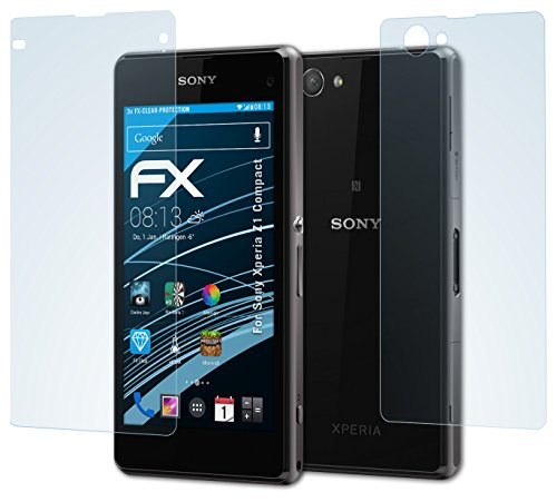 atFolix Schutzfolie kompatibel mit Sony Xperia Z1 Compact Folie, ultraklare FX Bildschirmschutzfolie (3er Set)