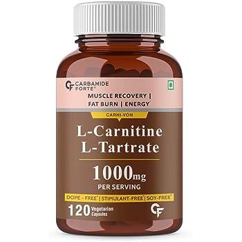 Carbamide Forte L-Carnitine L-Tartrate 1000mg Per Serving – 120 Veg Capsules