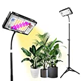 Grow Lights with Stand, Lordem Full Spectrum 150W LED Floor Plant Light for Indoor Plants, with ON/Off Switch, Flexible Gooseneck, Tripod Adjustable 18-47 inch