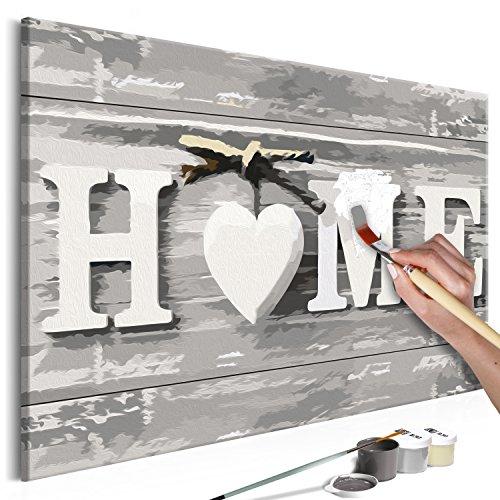 murando - Malen nach Zahlen Home 60x40 cm Malset mit Holzrahmen auf Leinwand für Erwachsene Kinder Gemälde Handgemalt Kit DIY Geschenk Dekoration n-A-0308-d-a