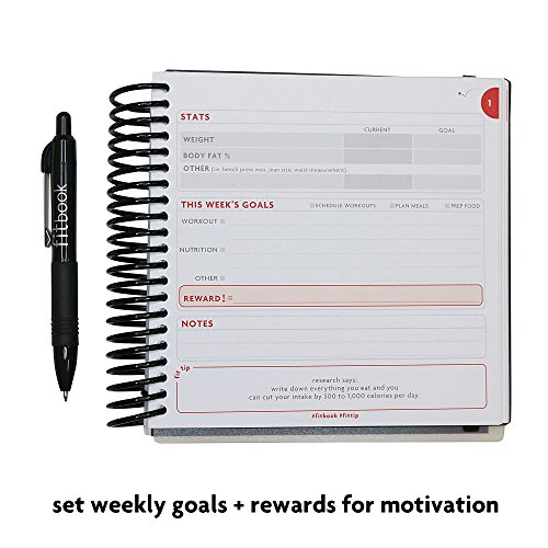 Product Image 5: Fitlosophy Fitbook: Fitness Journal and Planner for Workouts, Weight Loss and Exercise, Black Single (12-Week)