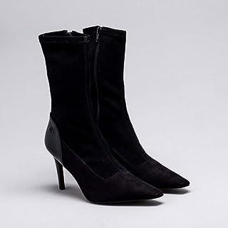 Ankle Boot Nobuck Strech Preta