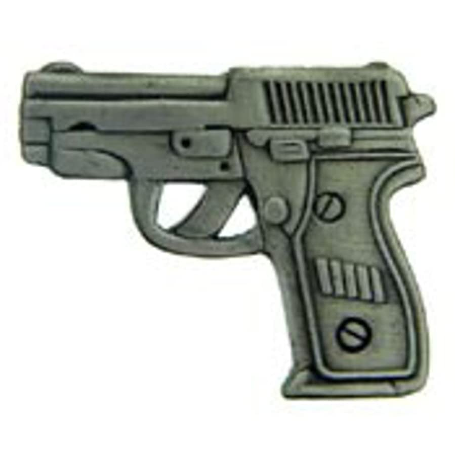 EagleEmblems P15713 Pin-Gun,38CAL Pistol,Pwt (1'')