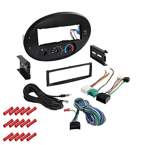 CACHÉ KIT357 Bundle with Car Stereo Installation Kit for Ford 1996 – 1999 Taurus with Rotary Climate Controls – in Dash Mounting Kit for Single Din Radio Receivers (2 Item)