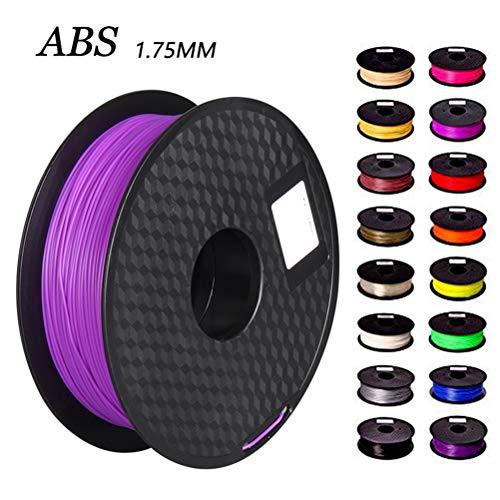 Logo ABS 3D Printer Filament, Dimensional Accuracy +/- 0.02 Mm, 1 Kg Spool, 1.75 Mm, Professional Grade 3D Printing Filament (Color : Red)