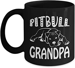 Pit Bull Grandpa Coffee Mug Perfect Funny Gift for Dog Owners and Animal Lover People - Pitbull Grandpa