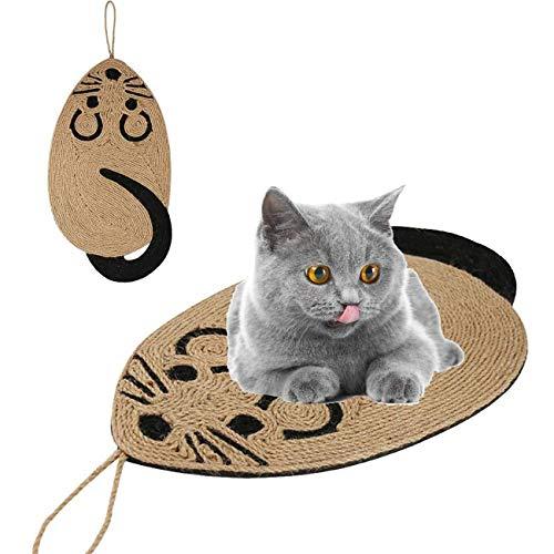 MAFANG Juguete Rascador para Gatos, Rascador para Gato De Sisal Y Cartón con Forma De Ratón, Juego Interactivo para Gatos con Diseño De Ratita, para Gatos Pequeños Y Medianos De Varias Razas