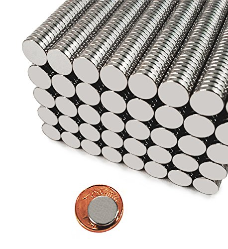 100 Neodym-Super-Magnete 10 x 2 mm
