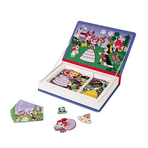 Janod - Magneti'Book Princesses - Jeu Éducatif Magnétique 55 Pièces - Dès 3 Ans, J02725