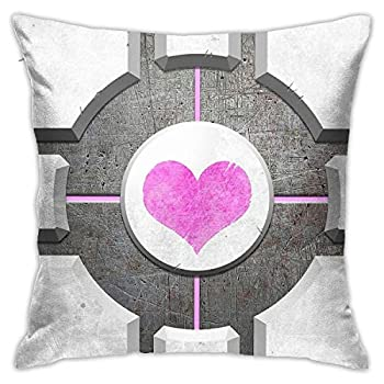ZHUHOO Companion Cube Bedroom Couch Sofa Square Pillow Case Home Decorative Throw Pillow Covers 18x18 Inch