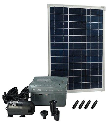 Ubbink Solarmax pomp met zonnepaneel en accu inclusief, 1000 l, 1351182