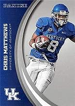 Chris Matthews football card (Kentucky Wildcats) 2016 Panini Team Collection silver insert variation #14