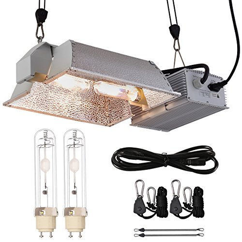 BloomGrow Hydroponic CMH 630W 120/240V Grow Light Fixture 120V Plug w/3100K Full Light Spectrum CMH Bulb Replace LED Digital Ballast for Plant Growing (630W CMH Enclosed Kit 3100K)