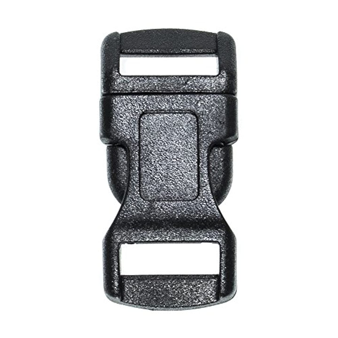 West Coast Paracord Black Side Release Buckles - 5/8, 3/8, 3/4, 1/2, and 1 inch Sizes - Single or Double Bar - Pack Sizes from 10 to 1000