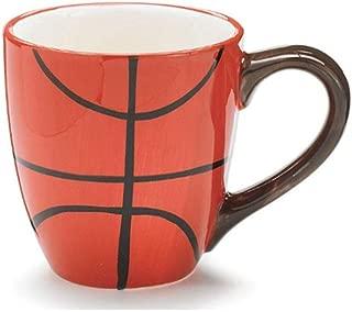 Burton & Burton Ceramic 13 Oz Basketball Coffee Mug Great Gift for Basketball Sport Fans