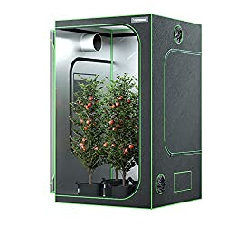 "Buy VIVOSUN 48""x48""x80"" Mylar Hydroponic Grow Tent with Observation Window and Floor Tray for Indoor Plant Growing 4' x4'"