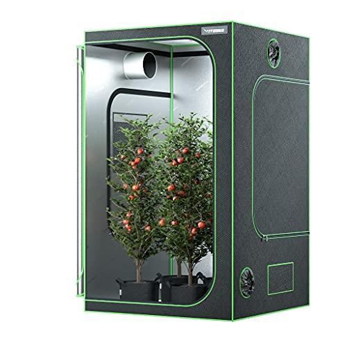"VIVOSUN 48"" x 48"" x 80"" Hydroponic Mylar Grow Tent with Observation Window and Floor..."