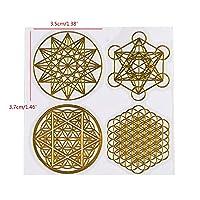 7チャクラ幾何学的銅エネルギータワーオルゴンステッカーフラワーライフツリーピラミッドエポキシ樹脂素材ジュエリーハートステッカーを作る