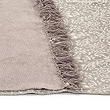 GJEFEGS vidaXL Kelim-Teppich Baumwolle 120x180 cm mit Muster Taupe - 2