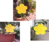 Arttwo 18 Pack Dual Yellow Sticky Traps in Flower Shaped for Flying Plant Insect Like Fungus Gnats, Aphids,...